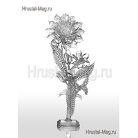 Цветок бесцветный (горный хрусталь), фото 1
