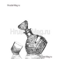 """Хрустальный набор для водки """"Приятель"""", (1+6) арт. 211/1,2, фото 1"""