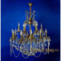 Бронзовая хрустальная люстра на 18 ламп №1, фото 1