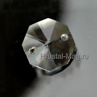 Хрустальная подвеска оптикон бесцветная 14 мм., фото 1