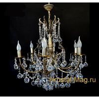 """Бронзовая хрустальная люстра серии """"N"""", фото 1"""