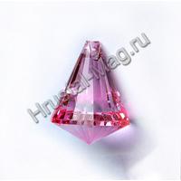 """Подвеска хрустальная """"Пирамида цветная"""", фото 1"""