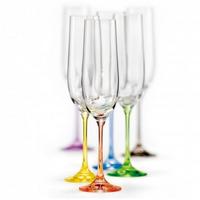 "Бокалы для шампанского ""Виола"", 190 мл, 6 шт, арт. 40729/D4641/190, фото 1"