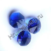 Хрустальная подвеска оптикон цветная 14 мм., фото 1