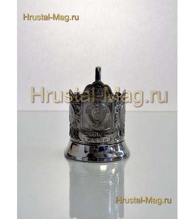 """Подстаканник никелированный """"Герб СССР"""", фото 3"""