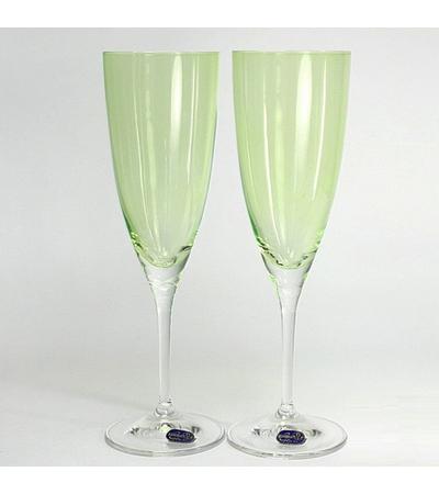 "Бокалы для шампанского ""Кейт"" зеленый, 220 мл, 2 шт, арт. 40796/D4353/220-2, фото 2"