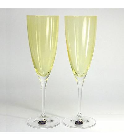 """Бокалы для шампанского """"Кейт"""" желтый, 220 мл, 2 шт, арт. 40796/382028/220-2, фото 2"""