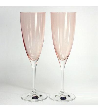 """Бокалы для шампанского """"Кейт"""" красный, 220 мл, 2 шт, арт. 40796/382050/220-2, фото 2"""