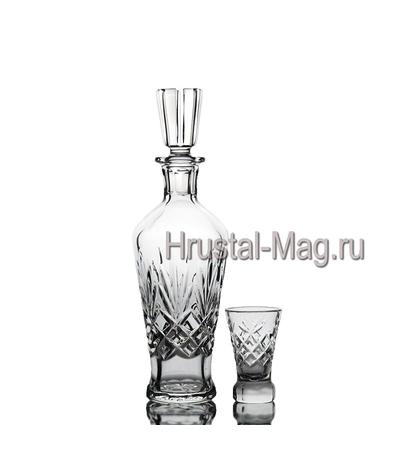 """Хрустальный сервиз """"Хрусталик"""", 6+1, арт. 329/1,2, фото 1"""