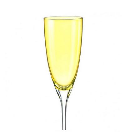 """Бокалы для шампанского """"Кейт"""" желтый, 220 мл, 2 шт, арт. 40796/382028/220-2, фото 1"""